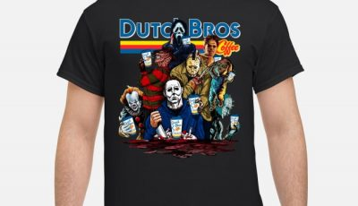 Horror Characters with Dutch Bros Coffee Shirt