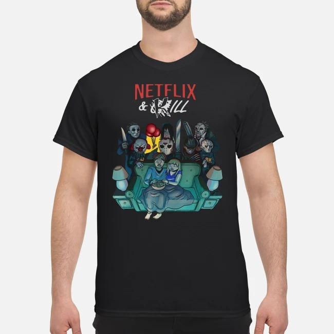 Horror Movie Characters Netflix And Kill Shirt