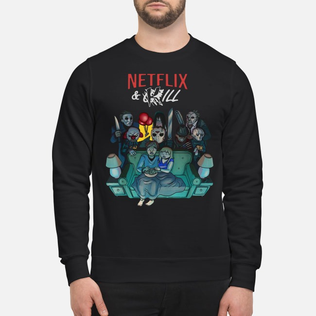 Horror Movie Characters Netflix And Kill Sweater