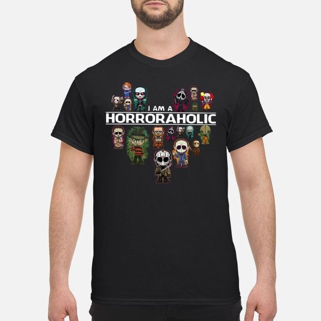 I Am A Horroraholic Halloween Shirt