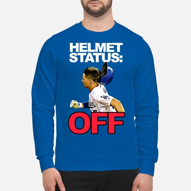 LA Dodgers Helmet Status Off Sweater
