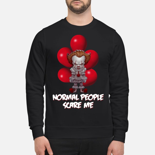 Normal People Scare Me Pennywise It Sweater