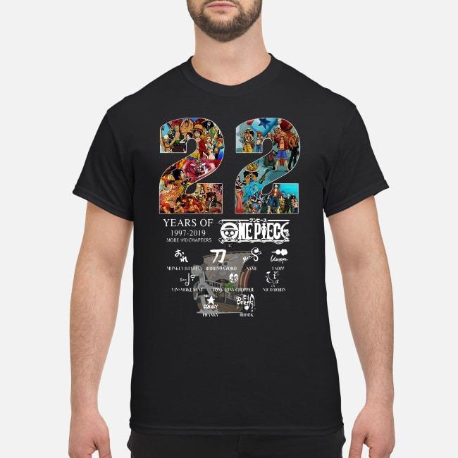 One Piece 22 Years Of 1997 2019 Signature Shirt