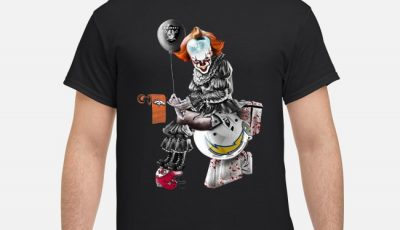 Pennywise tolet NFL Team Football Oakland Raiders Los Angeles Chargers Shirt