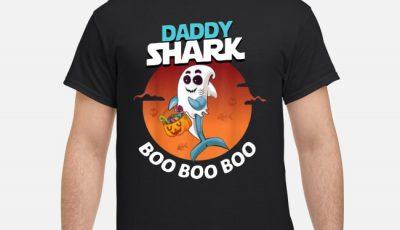 Premium Daddy Shark Boo Boo Boo Shark Ghost Halloween shirt