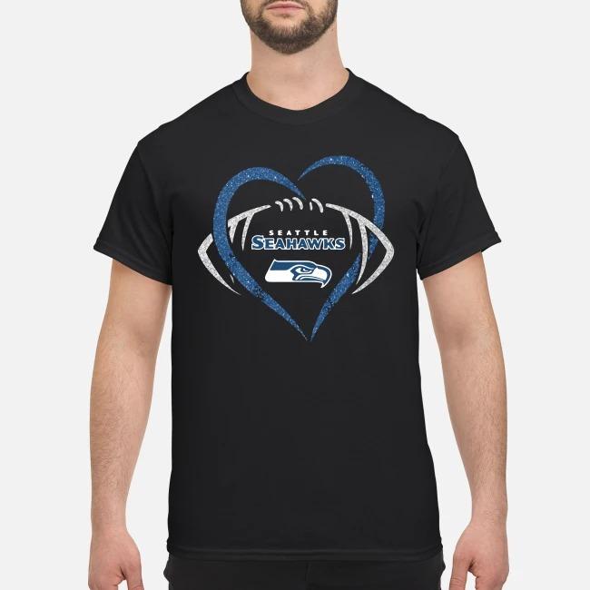 Seattle Seahawks Diamond Rugby Heart Shirt