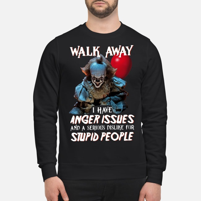 Walk Away I Have Angle Issue Pennywise It Halloween Sweater