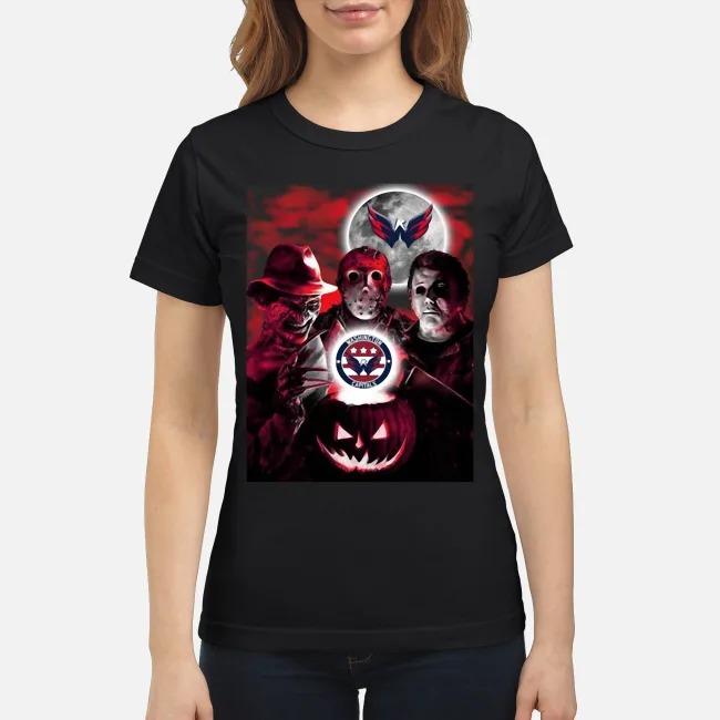 Washington Capitals Copy Halloween Freddy Krueger Jason Michael Myers Ladies