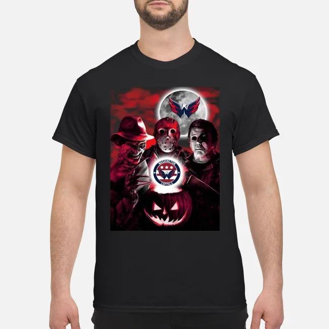 Washington Capitals Copy Halloween Freddy Krueger Jason Michael Myers Shirt