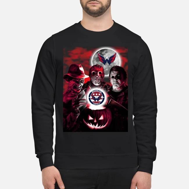 Washington Capitals Copy Halloween Freddy Krueger Jason Michael Myers Sweater