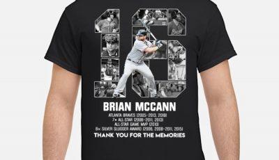 16 Brian Mccann Atlanta Braves thank you for the memories shirt