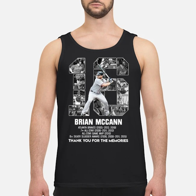 16 Brian Mccann Atlanta Braves thank you for the memories tank top