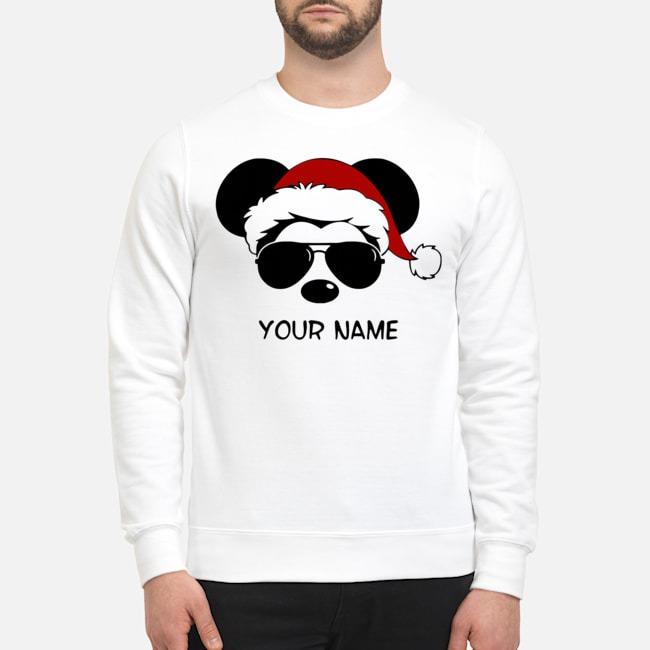 Custom Name Cool Mickey Santa Claus Christmas Sweater