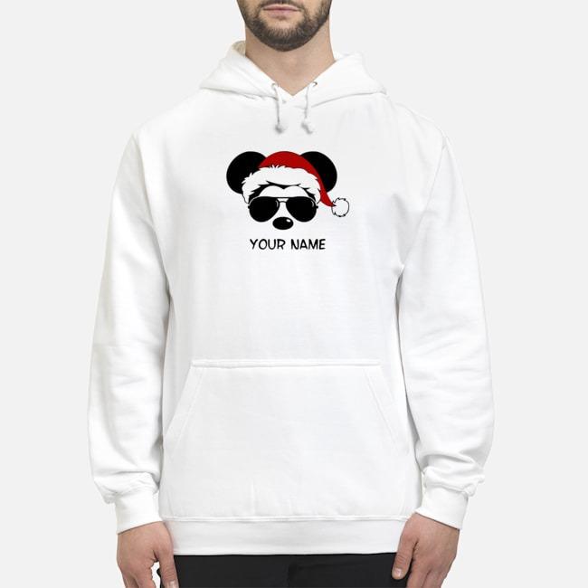Custom Name Cool Mickey Santa Claus Christmas Hoodie
