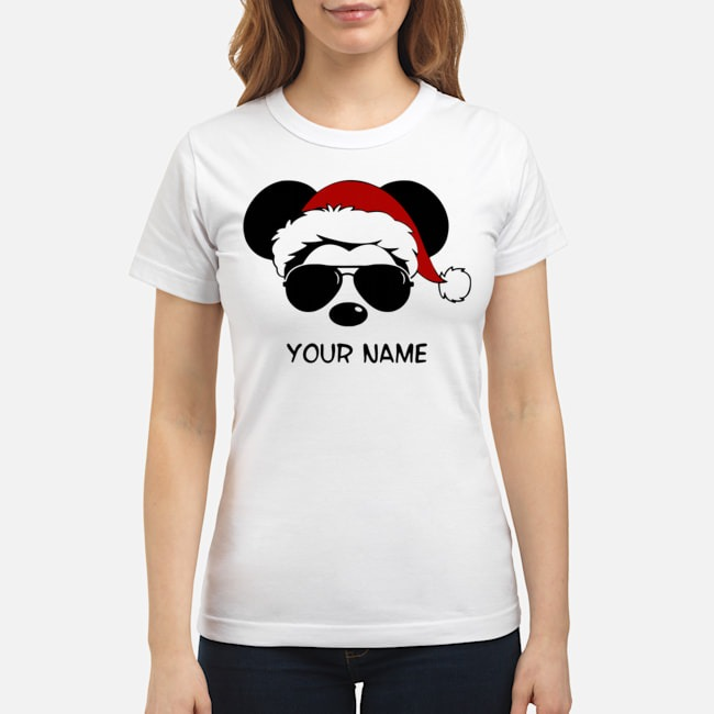 Custom Name Cool Mickey Santa Claus Christmas Ladies