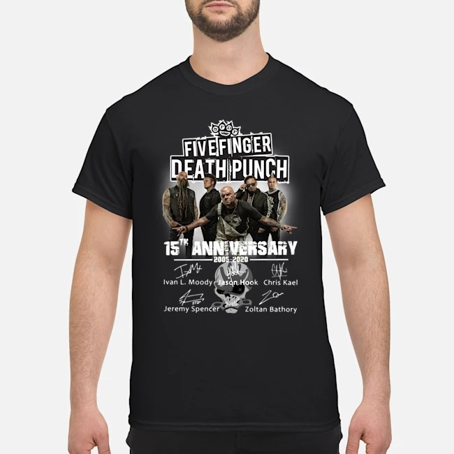 Five Finger Death Punch 15th Anniversary 2005-2020 Signatures Shirt