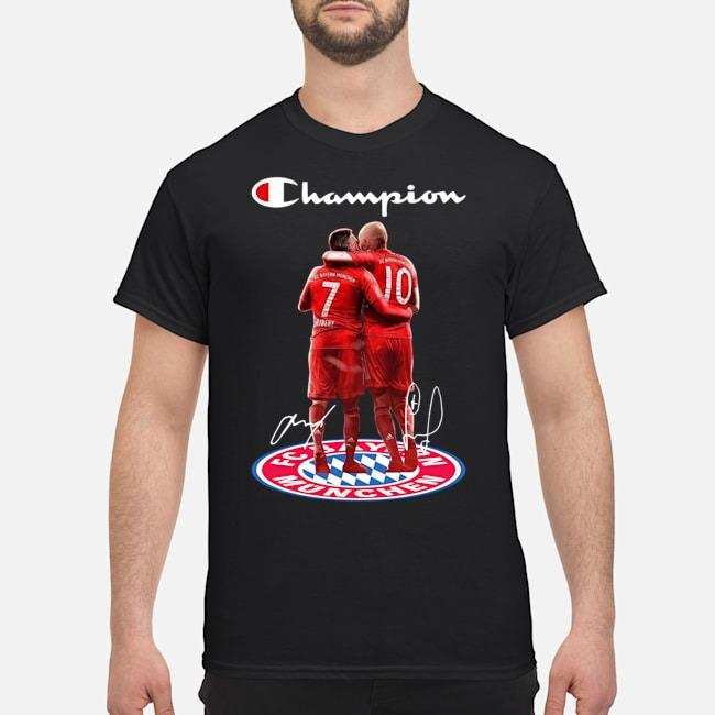 Franck Ribery And Arjen Robben Champion Bayern Munich Signature Shirt