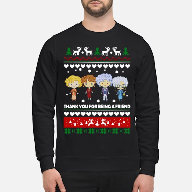 Golden Girls Thank you for being a friend ugly Christmas Sweater