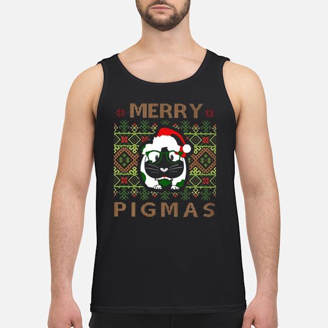 Guinea pig Merry Pigmas ugly Christmas tank top