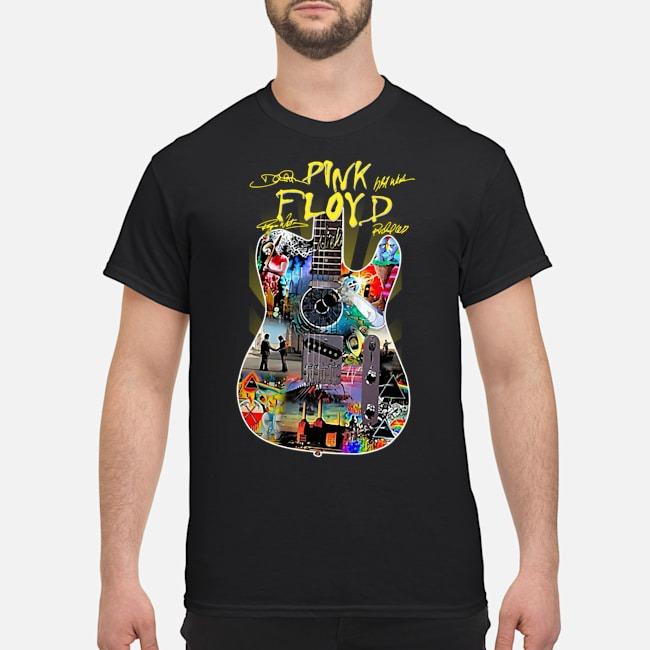 Guitar Pink Floyd signatures shirt