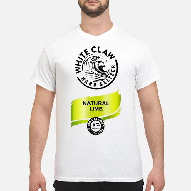 Halloween Costume White Claw Hard seltzer Natural Lime Shirt