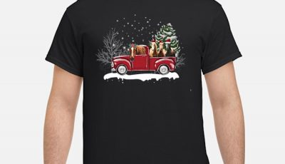 Horse In The Truck Christmas Tree Shirt