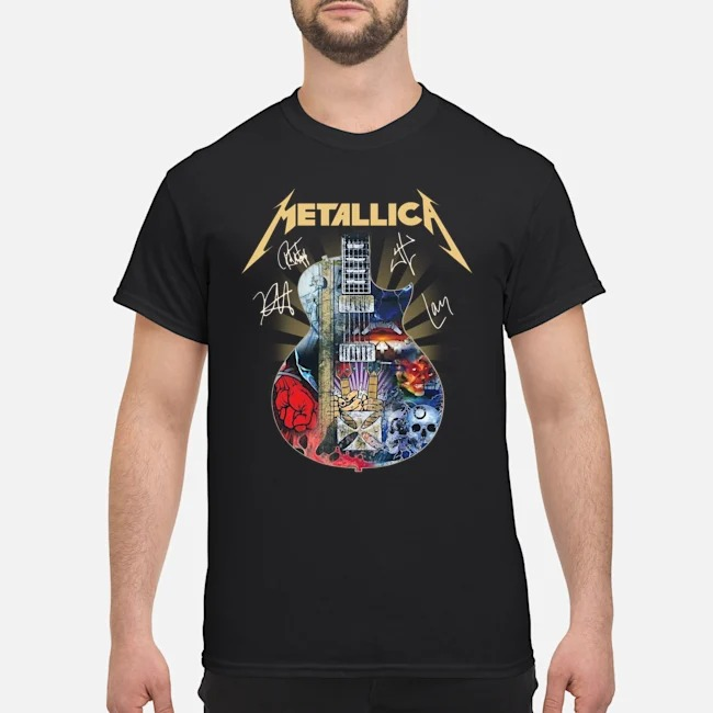 Metallica Guitar Signatures Shirt
