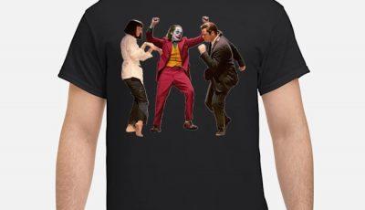 Mia Wallace Vincent Vega and joker pulp fiction dance shirt