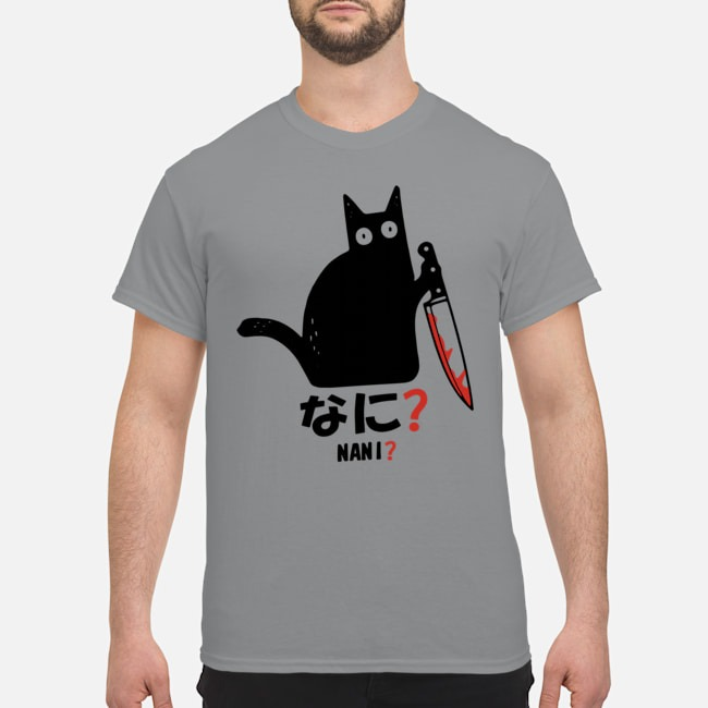 Nani murderous black cat with knife shirt