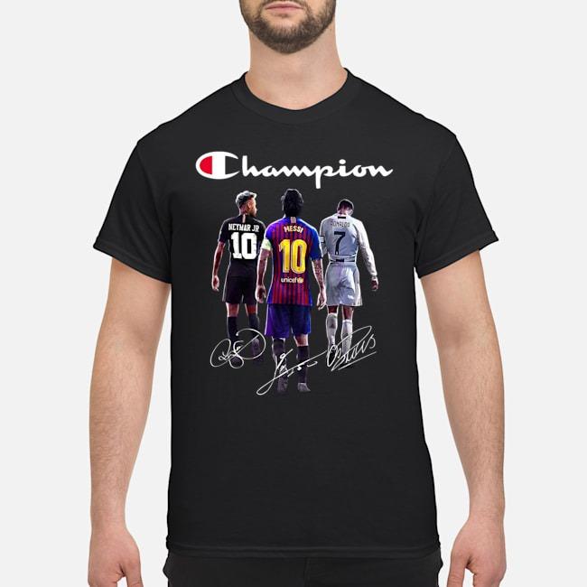 Neyma Messi And Ronaldo Champions shirt