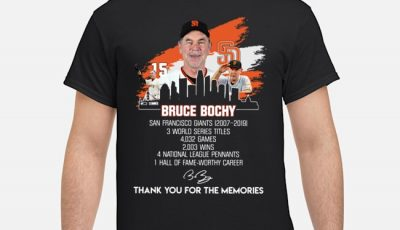 San Francisco Giants Bruce Bochy Signature Thank You For The Memories Shirt