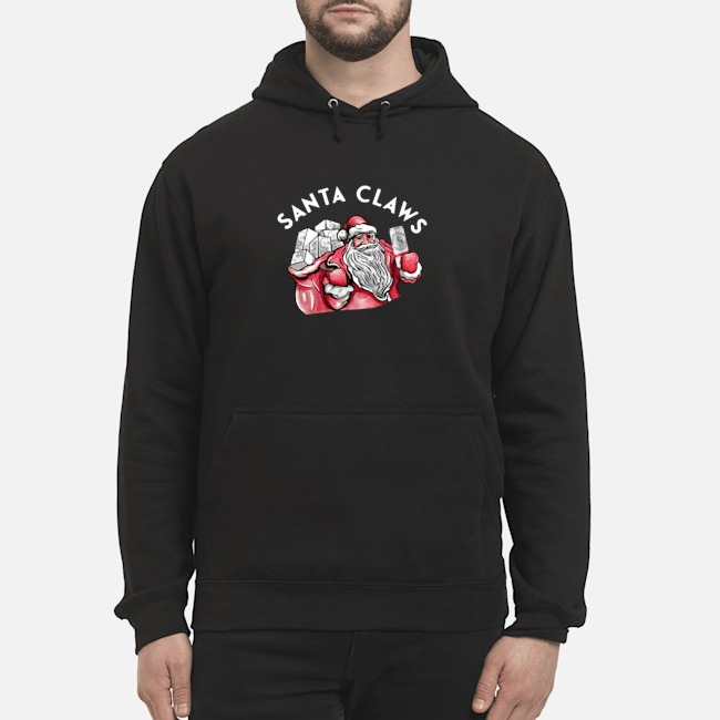 Santa Claws White Claw Christmas Drinking Hoodie