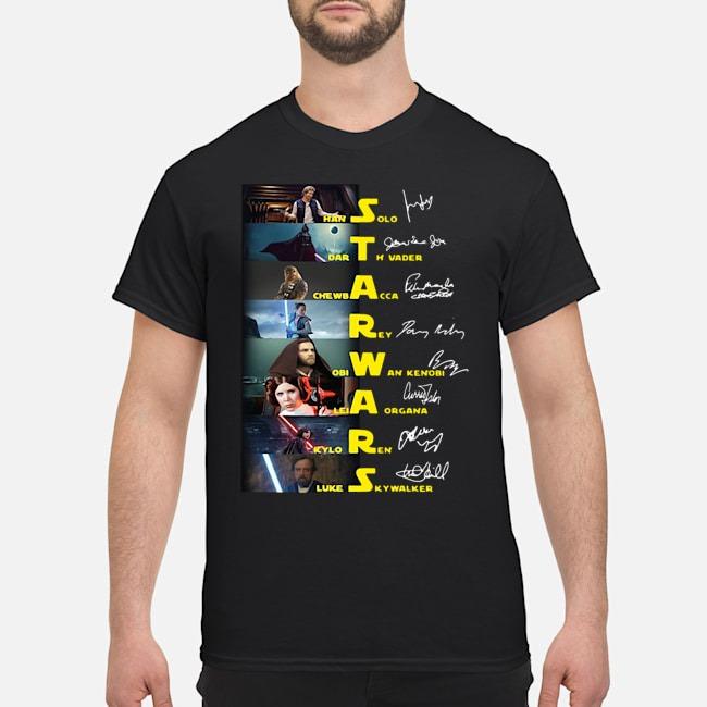 Star Wars Characters Signature Shirt