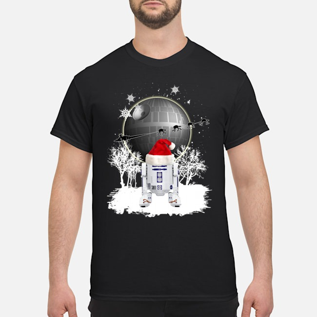 Star Wars Death Star R2D2 Santa Christmas Shirt