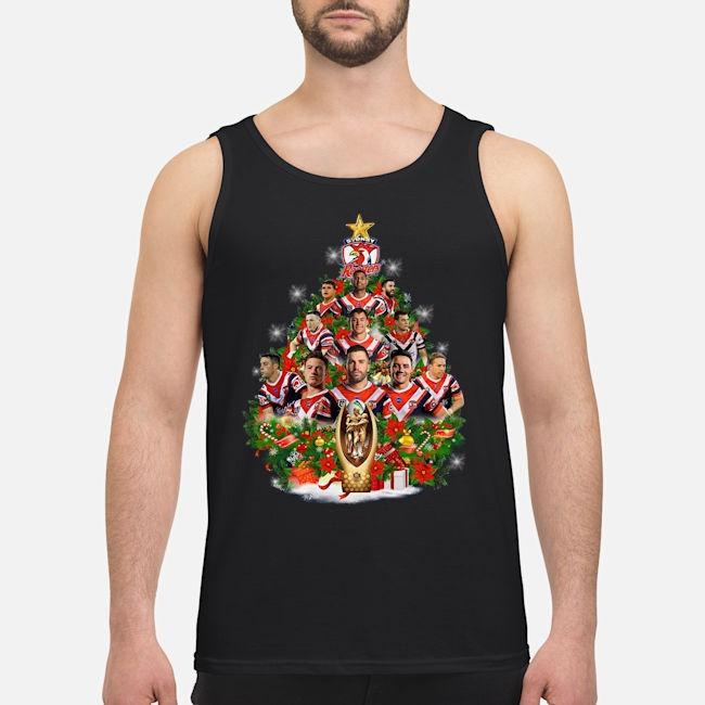 Stony Rooster Christmas Tree Tank top