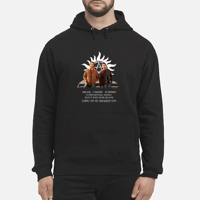 Supernatural Family 15th Anniversary Dean Sam Fan art hoodie