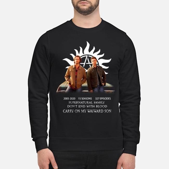 Supernatural Family 15th Anniversary Dean Sam Fan art sweater