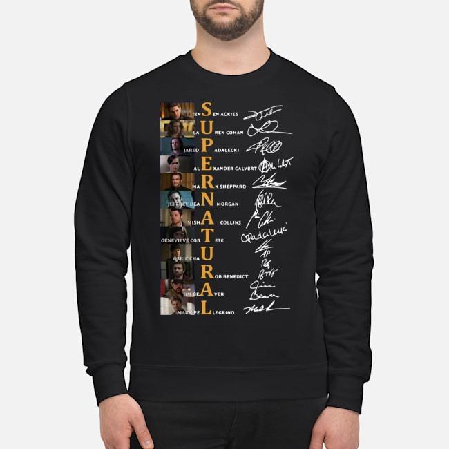 Supernatural Jensen Ackles Lauren Cohan Jared Padalecki Signature Sweater