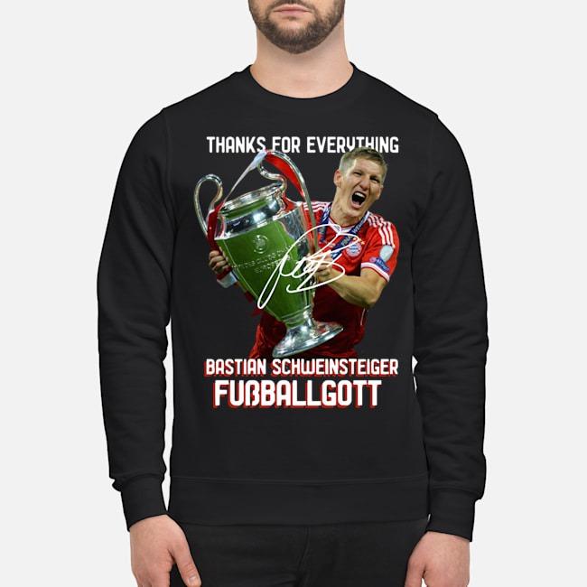 Thanks For The Everything Bastian Schweinsteiger Fussballgott Signature Sweater