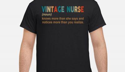 Vintage Nurse noun shirt