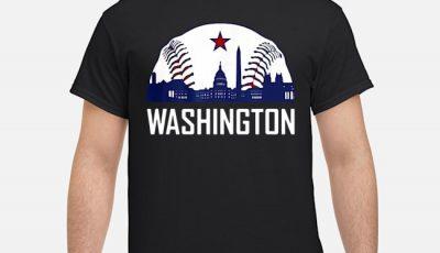 Washington DC Baseball Hometown Skyline National Shirt
