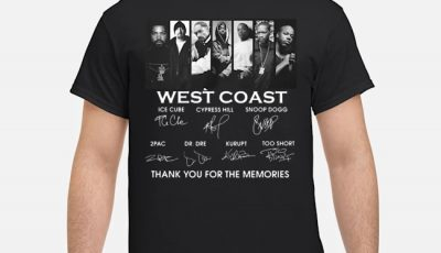 West Coast Thank You For The Memories Signatures Shirt