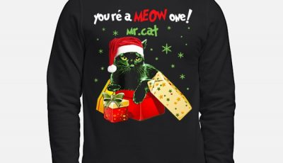 You're A MEOW One Mr Cat Christmas Holiday Sweater