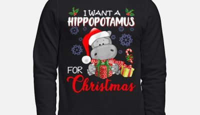 want a Hippopotamus for Christmas Sweater