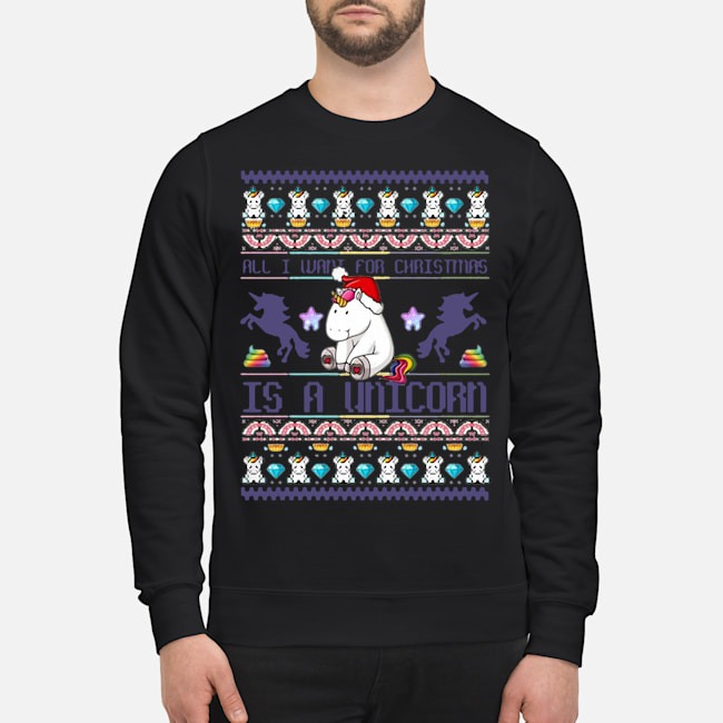 All I Want For Christmas Is A Unicorn Sweater