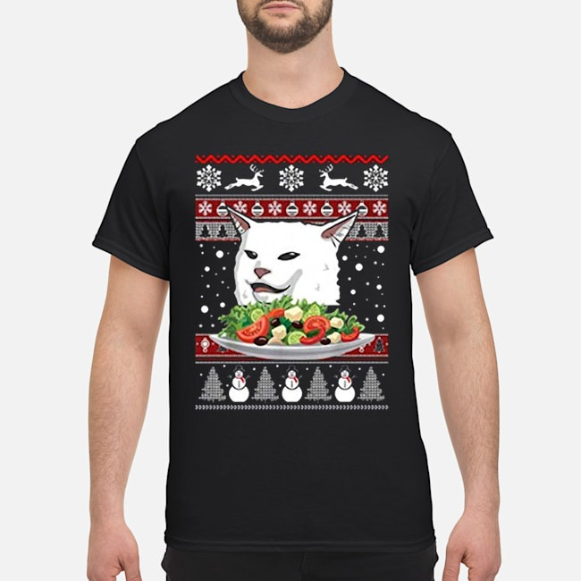 https://kingtees.shop/teephotos/2019/11/Angry-Women-Yelling-at-Confused-Cat-at-Dinner-Table-Meme-Ugly-Christmas-Shirt.jpg