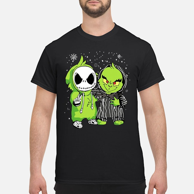 Baby Jack Skellington and Grinch Christmas Shirt