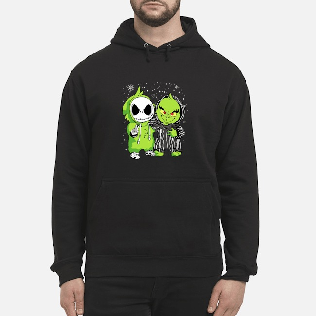 Baby Jack Skellington and Grinch Christmas Hoodie