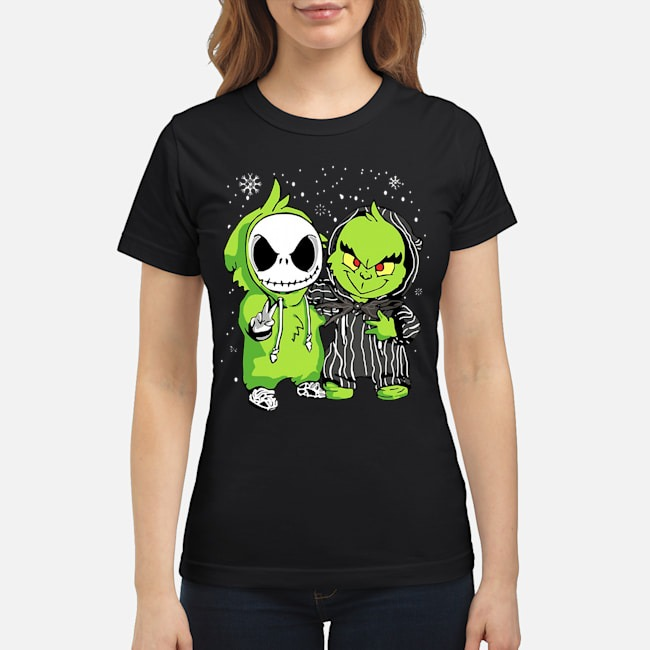 Baby Jack Skellington and Grinch Christmas Ladies