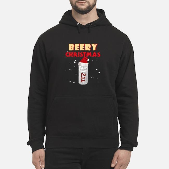 Beery Christmas Steel Reserve Beer Funny Christmas Hoodie
